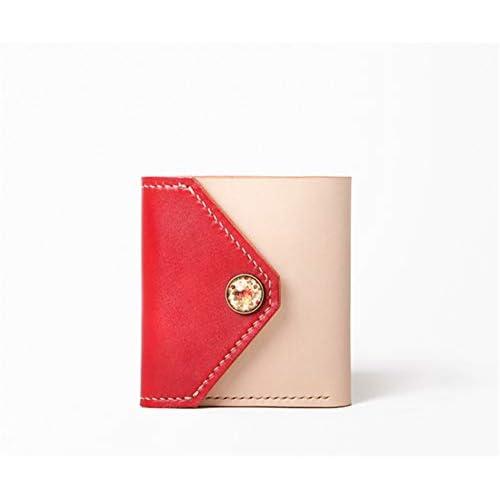 LJYkatins Handgefertigte Damenbrieftasche aus Leder mit