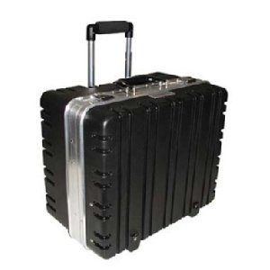Tec-Tuff Case, Super Roto, Wheeled, Black w/Silver (Roto Tool Box)