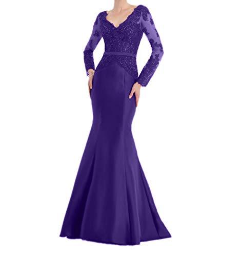 Brautmutterkleider Abendkleider Langarm La Langes Marie Braut Rot Damenkleider Ballkleider Regency Elegant IPIzX