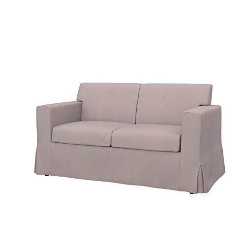 Taupe Eco Leather Loveseat - Soferia - Replacement Cover for IKEA SANDBY 2-seat Sofa, Eco Leather Taupe