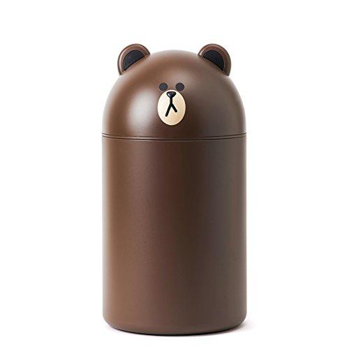 LINE FRIENDS Medium size trash can waste bin (Brown)