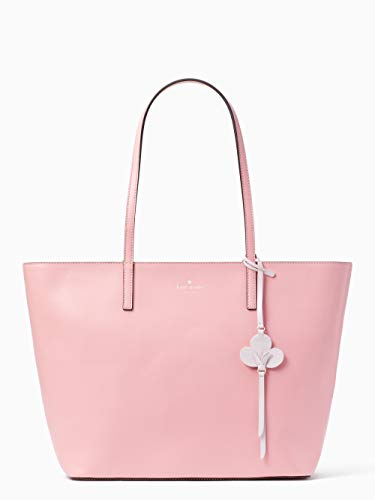 Kate Spade New York Tote Purse Kelsey With Flower Dangle Charm (Bright Carnation) ()