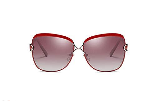 Conducción Alrededor De La Gafas Sol Rojo De Protección De Rojo De Marco Moda Progresiva Grande Película De Gafas De De Color Marco Gafas Polarizadas Sol La Conducción liwenjun Polarizado UV Vino fYzw8qw