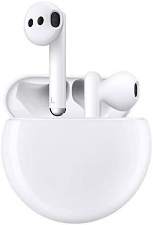 HUAWEI FreeBuds 3 - Wireless Bluetooth Earphone with Intelligent Noise Cancellation (Kirin A1 Chipset, Ultra-Low Latency, Fast Bluetooth Connection, 14mm Speaker, Quick Wireless Charging) (White)