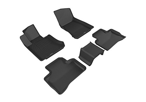3D MAXpider Complete Set Custom Fit All-Weather Floor Mat for Select Mercedes-Benz GLC-Class (X205) Models - Kagu Rubber (Black)