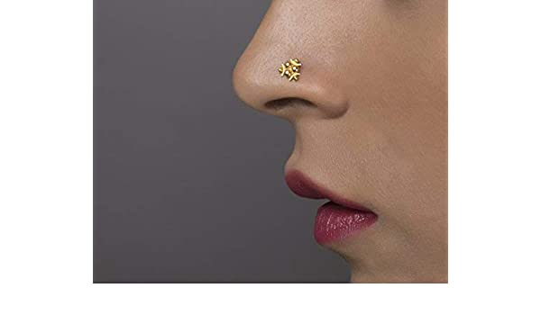 Amazon Com Indian Nose Ring Stud Unique 14k Yellow Or Rose Gold