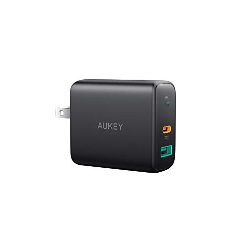 AUKEY USB C Charger with Dynamic Detect, PD Charger with 30W Power Delivery, Compatible with iPhone Xs/XS Max/XR, Samsung Galaxy S10 / Note9, Pixel 3 / 3XL, MacBook Air, Nintendo Switch, and More