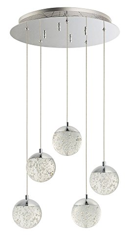 ET2 Lighting E24264-91PC Orb II Multi-Light Pendant, Polished Chrome Two Light Suspension Pendant