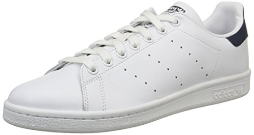 Blanco New Running Smith Navy adidas Originals de White Unisex Stan Deporte Adulto Zapatillas UwfqnZw8