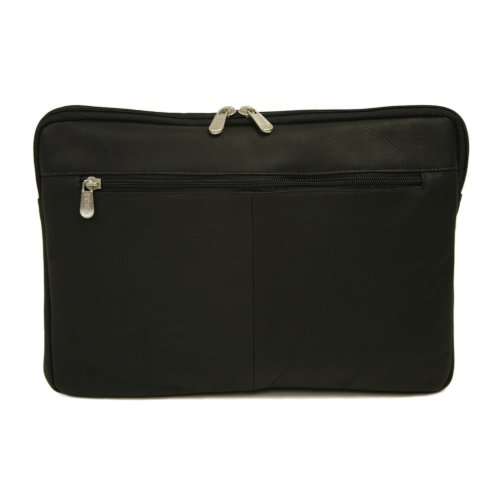 Piel Leather 17 Inch Zip Laptop Sleeve, Black, One Size