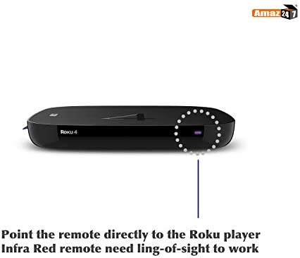 Amaz247 Standard IR Replacement Remote for Roku 1, 2, 3, 4 (HD, LT, XS, XD), Roku Express, Roku Premiere, Roku Ultra w/Disney+, Netflix, Prime Video and Hulu Channel Shortcut Buttons