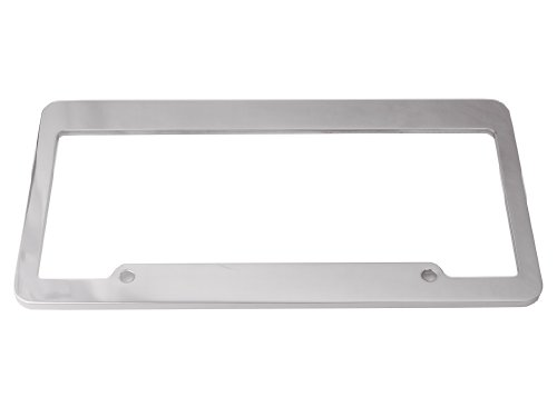 DefenderWorx 11000 Polished Blank Billet License Plate ()