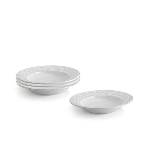 Mikasa American Countryside Rimmed Soup Bowls, Set
