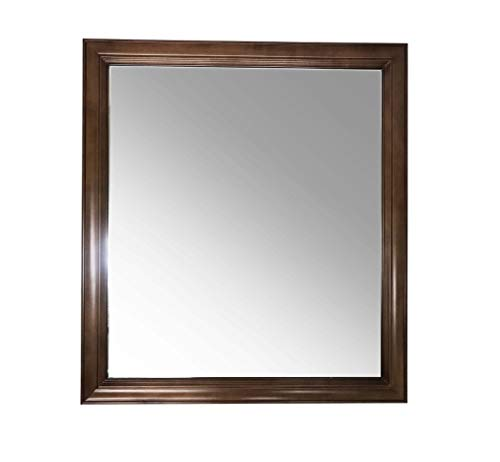 """Maple walnut solid wood Rectangular Bathroom Vanity Mirror 