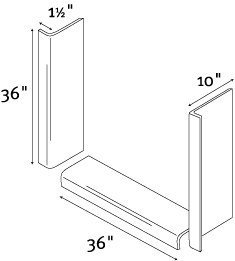 Swanstone TK03610.011 Window Trim Kit, Tahiti White