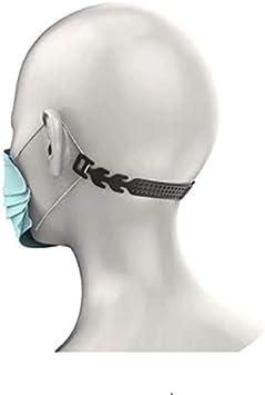2 x Orejeras Protector de cuello Protector de oído para máscaras Protector bucal Mascarillas Negro