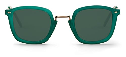47 de Mr Galata Unisex Emerald with Sol Lenses Boho Classical Gafas FRBvFq