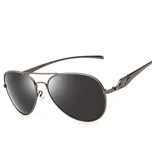 UV Gafas Libre Unisex Aire de de Fuerza polarizadas HD aérea metálico de Lente de los la Retro de al Deporte Sol de Marco Gafas B Ultraligero para Vendimia A la la Color Hombres 400 la protección OrwqOf7xp