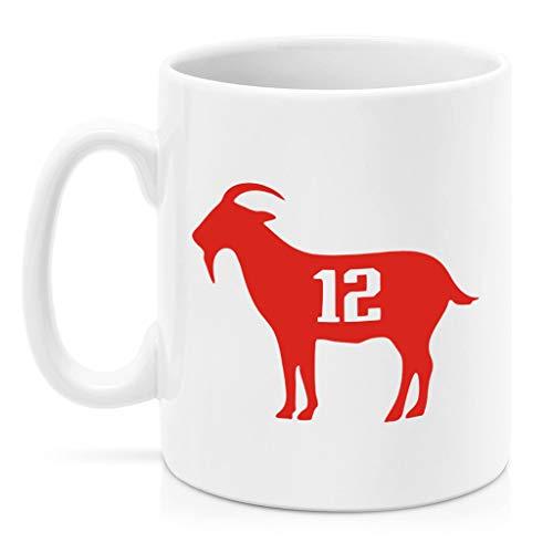 (SAYOMEN - Goat Tom Brady MUG 15oz Unique coffee mug, Ceramic coffee mug, Gift for Men or Women, Funny Mug, Dad Birthday Gift)