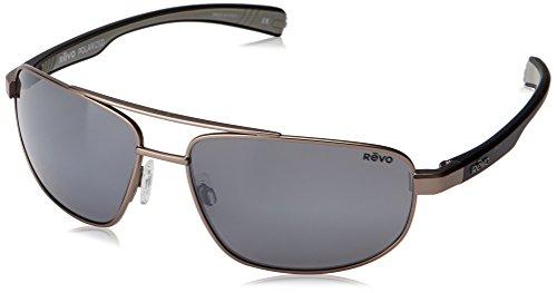 Revo Wraith  RE 1018 Polarized Rectangular Sunglasses, Gunmetal Graphite, 61 - Pair Pair A Buy A Donate Sunglasses