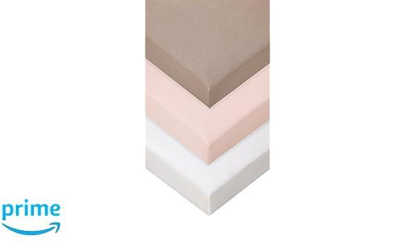 rosa S/ábana bajera de bamb/ú para cuna escalable 90/x 140-5/colores disponibles