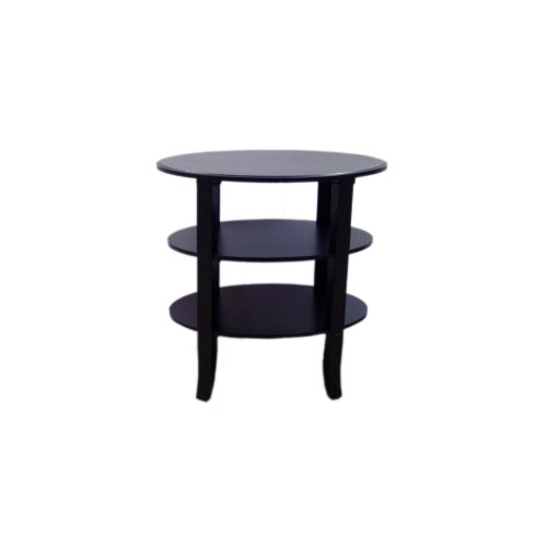 Target Marketing Systems London Collection Ultra Modern 3 Tier Oval End Table With Splayed Legs, Espresso