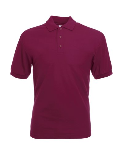 Fruit of the Loom Pique Polo Shirt SIZE XXL COLOUR Burgundy