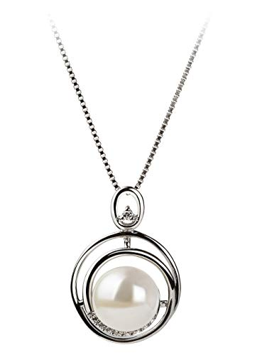 Kelly White 9-10mm AA Quality Freshwater 925 Sterling Silver Cultured Pearl Pendant For Women