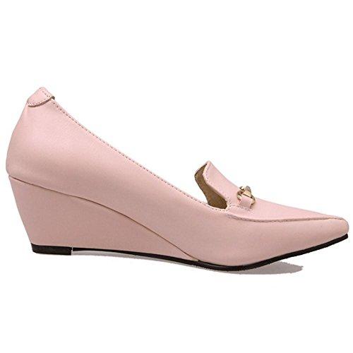 Tacon Cuna Pink Cordones De RAZAMAZA Mujer Sin Pumps Zapatos 5q7Z1Wwt