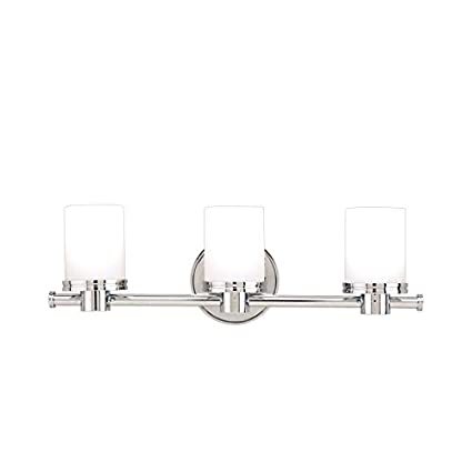 3 light vanity fixture chrome mid century modern vanity southport 3light vanity light polished chrome finish with opal matte glass shade