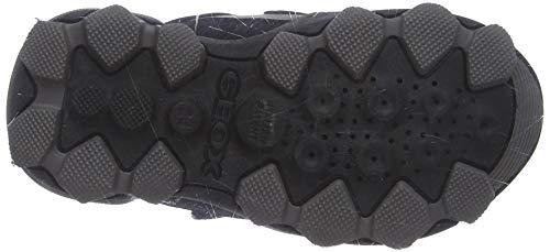 Geox Jungen J BULLER Boy B ABX E Hohe Sneaker, Schwarz (Black/Dk Red C0260), 24 EU 4