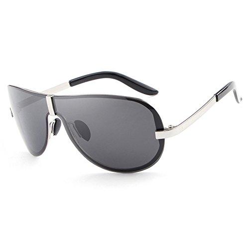 Lunettes Homme soleil Silver Black de Lens Frame Yiwa 4dqxtz4