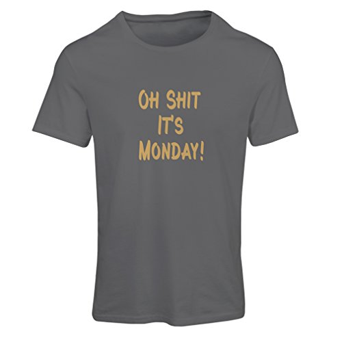 N4068F Camiseta mujer Oh shit it''s Monday gift' Gris Oro