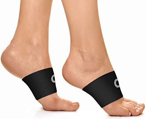 Arch Support Brace Compression Sleeves (1 Pair) - Best Foot Arch Supports for Plantar Fasciitis Pain Relief, High Arch Support, Flat Feet & Heel Spurs - Wear with Shoes, Socks, Slippers or Flip Flops