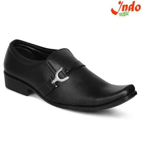 Buy Indo Black Vegan Formal Shoes - Non