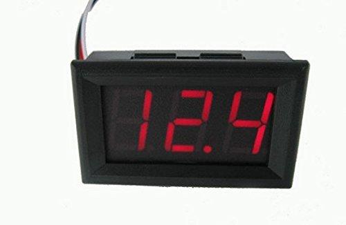 Domire 2 Wire Red DC4.50-30.0V LED Panel Digital Display Voltage Meter Voltmeter PK Green