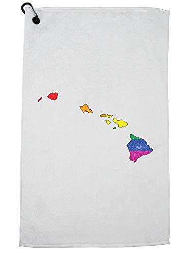 Hollywood Thread Hawaii Golf Towel Carabiner Clip by Hollywood Thread
