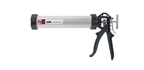 Cox AJ8007 Professional aluminium barrel sealant applicator Powerflow Combi for 310ml cartridges and sachets/foil packs, mechanical advantage 18:1 high thrust version by Cox (Aluminium Barrel)