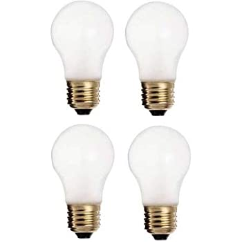Ciata Lighting 60 Watt, 570 Lumens A15 Frosted Incandescent Bulbs, appliances, Wall Lighting. (4 Pack)