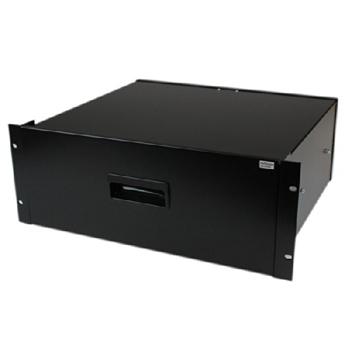 StarTech 4U Steel Storage Drawer for 19-Inches Racks and Cabinets 4UDRAWER - Black by StarTech