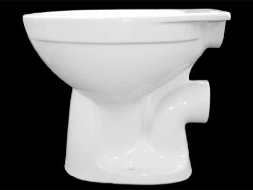 Stand Tiefspül WC 6l, bodenstehend, weiß, Spülmenge: 6 Liter, freier Zulauf, mit glasiertem Spülrand, Spülverteiler