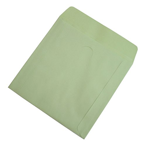 Nulink premium thick green paper cd dvd sleeves envelope for 100 paper cd sleeves with window flap