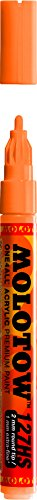 - Molotow ONE4ALL Acrylic Paint Marker, 2mm, Neon Orange Fluorescent, 1 Each (127.230)