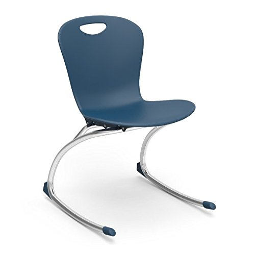 - Virco Student Chair, Navy, Soft Plastic Shell, 18