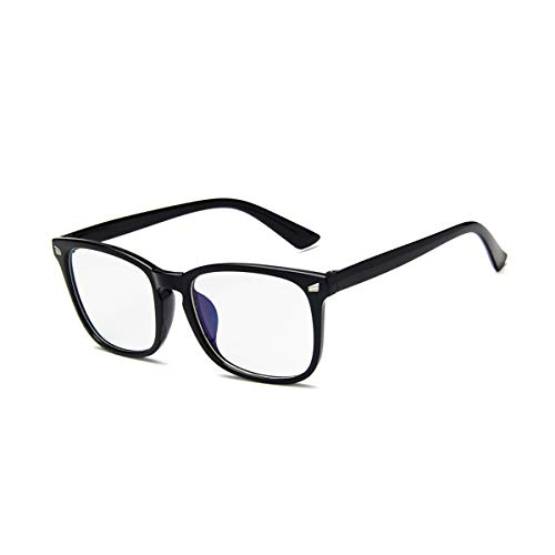 Blue Light Blocking Glasses Improve Contrast and Reduce Glare Computer Eye Strain Effectively Block Ultraviolet Radiation Protect Your Eyes Unisex Stylish (Bright Black) (Best Anti Radiation Glasses)