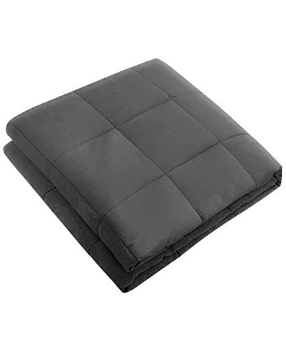 Cheap Pur Serenity 15 lb Cotton Weighted Blanket - Gray Black Friday & Cyber Monday 2019