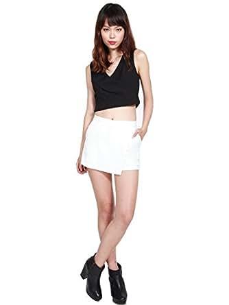 So Frocking Good Women's Evelyn Foldover Skorts V2 Medium White