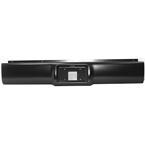 Rear Steel Roll Pan - Roll Pan for GMC C/K FULL SIZE P/U 88-98 Rear Steel w/License Plate Part w/Light Kit and Hardware