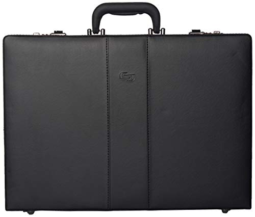 Solo New York Grand Central Attaché Case Briefcase with Combination Locks, Black