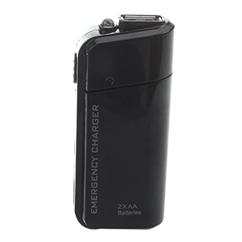 SODIAL(R) Portable USB Emergency AA Battery Powered Charger With Flashlight for Cellphone iPhone iPod MP3/MP4 player Black by SODIAL (Image #2)